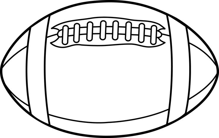 Rugby ball or football line .
