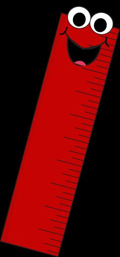 Red Cartoon Ruler Clip Art - Red Cartoon-Red Cartoon Ruler Clip Art - Red Cartoon Ruler Vector Image-9