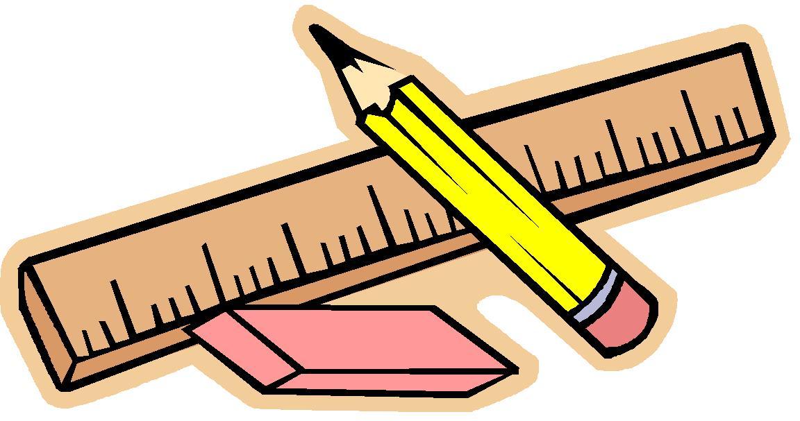 Ruler Pencil Eraser Man .