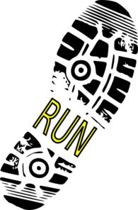 Run Shoe Print Clip Art: text in the middle can say u0026quot;Mom25ku0026quot;