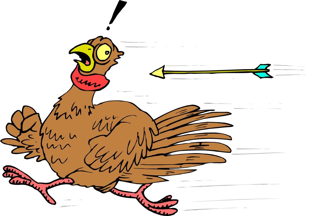 running turkey clipart