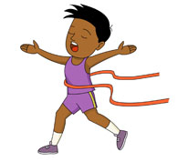 Running Across The Finish Line Ribbon Cl-running across the finish line ribbon clipart. Size: 54 Kb-4