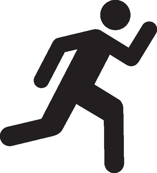 Running Clip Art - People Running Clipart