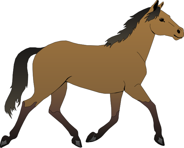 Running Horse Clip Art At Clker Com Vector Clip Art Online Royalty