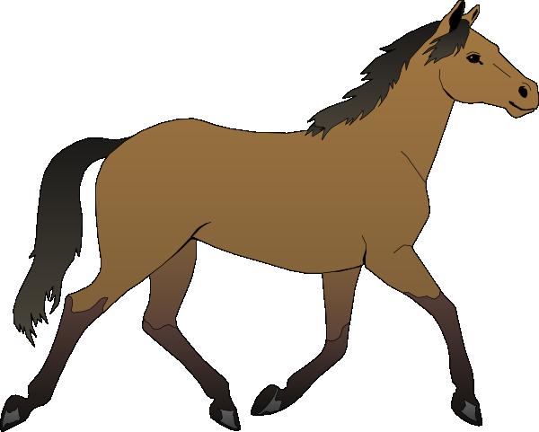 Running Horse Clip Art At Clker Com Vector Clip Art Online Royalty