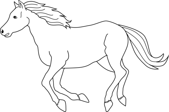 Running horse clip art at vector clip art