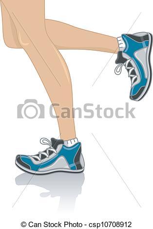 ... Running Legs - Cropped Illustration -... Running Legs - Cropped Illustration Featuring the Legs of a.-18