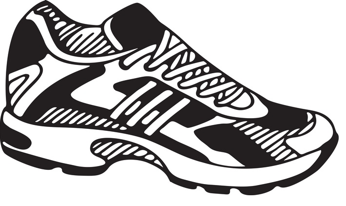 Running shoe clip art at .
