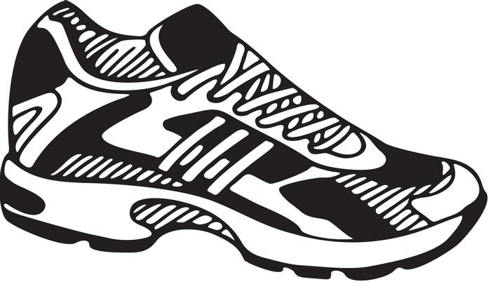 Running shoe clip art at .