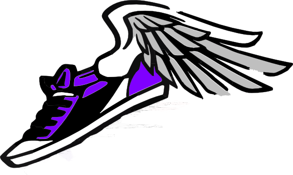Running Shoe With Wings Clip Art At Clker Com Vector Clip Art Online
