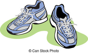 Pair of Athletic Shoes - Vector Illustration of a pair of.
