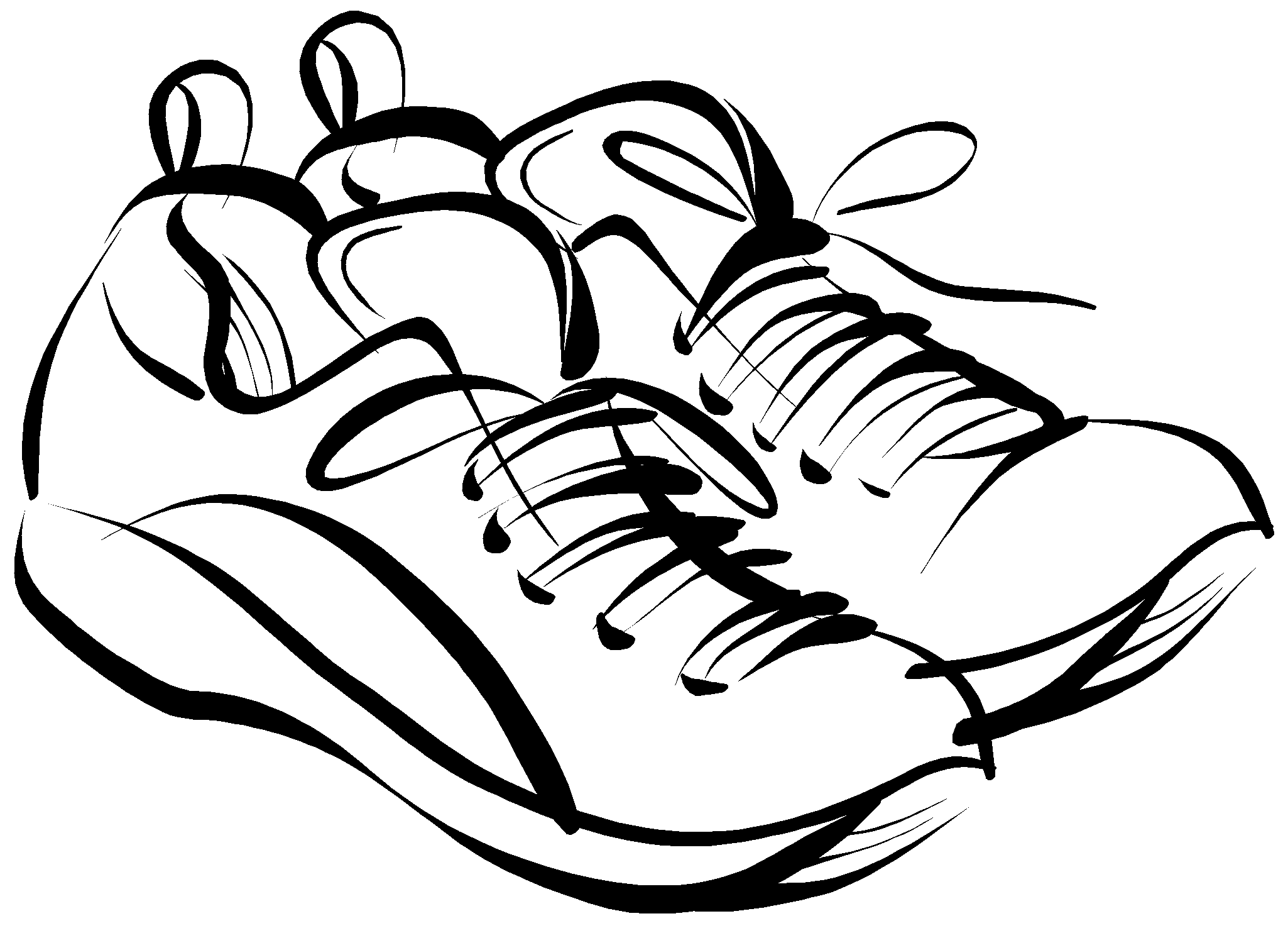 Running Shoes Clipart - Clipart Suggest