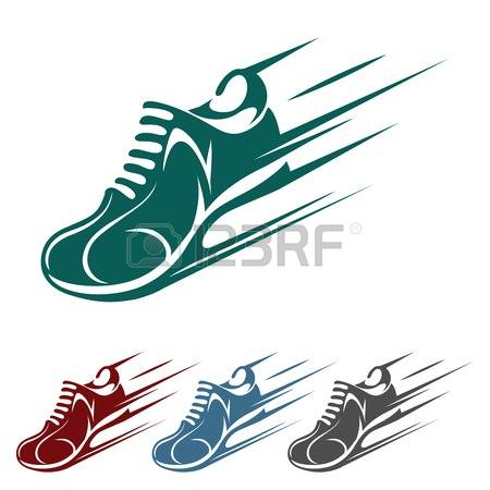 Speeding Running Shoe Icons-Speeding running shoe icons-16