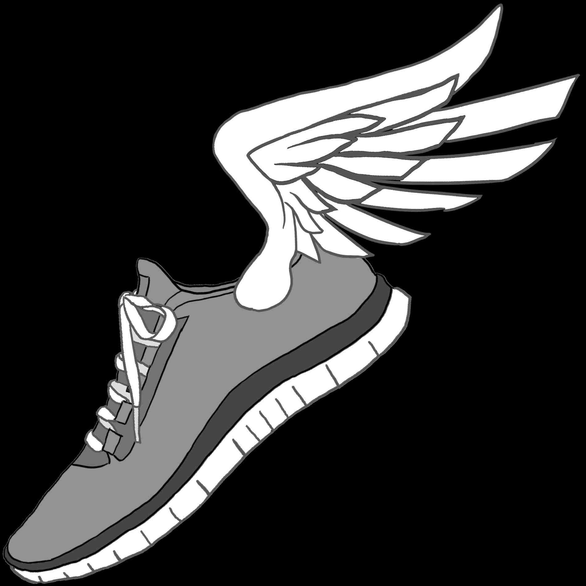 running shoes clipart amp look at clip art images clipartlook
