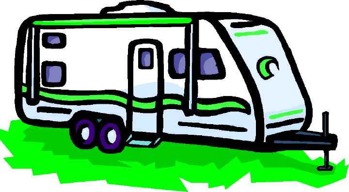 Rv Trailer Cartoon Clipart