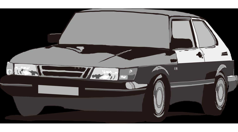 Car Clip Art - Vector Cartoon Painted Bl-Car Clip art - Vector cartoon painted black Hyundai sedan-1