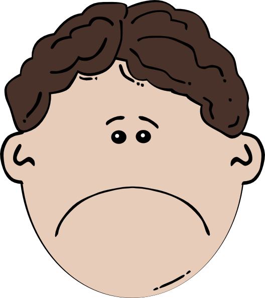 sad boy clipart