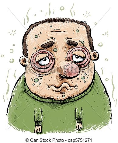 ... Sad and Sick Man - A man swollen fro-... Sad and Sick Man - A man swollen from illness. Sad and Sick Man Clipartby ...-14