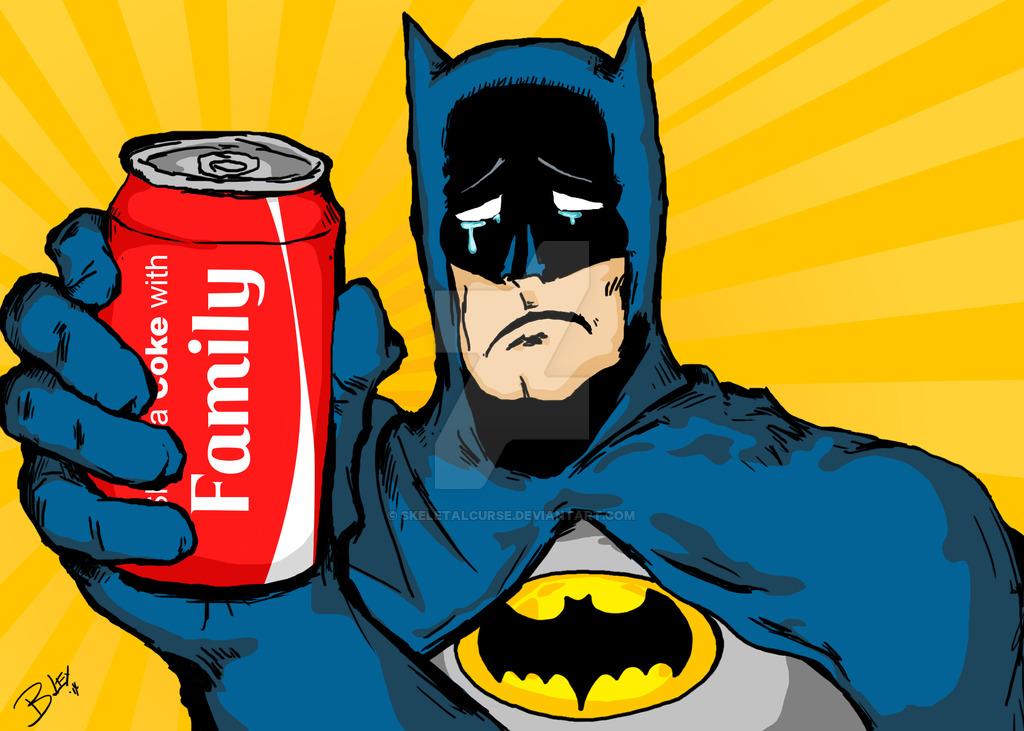Batman shares a Coke with Family - sad :( by skeletalcurse ClipartLook.com