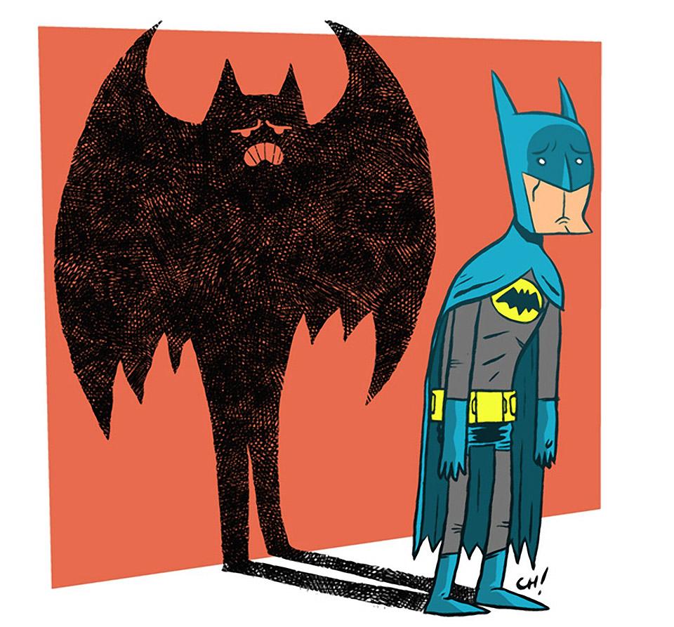 Sad Batman is Sad Art Print ClipartLook.com
