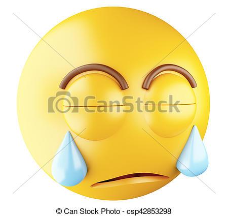 3D Sad emoji crying. - csp428 - Sad Emoji Clipart