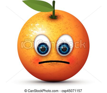 orange sad emoji - csp45071157