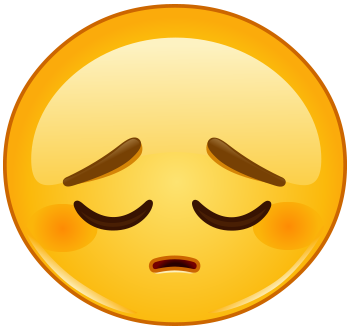 This sad face is feeling down - Sad Emoji Clipart
