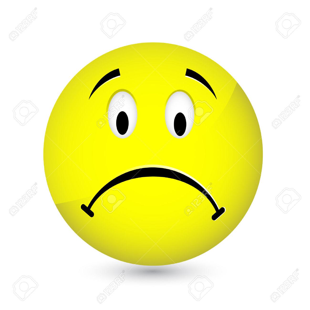Sad Face Clipart - .