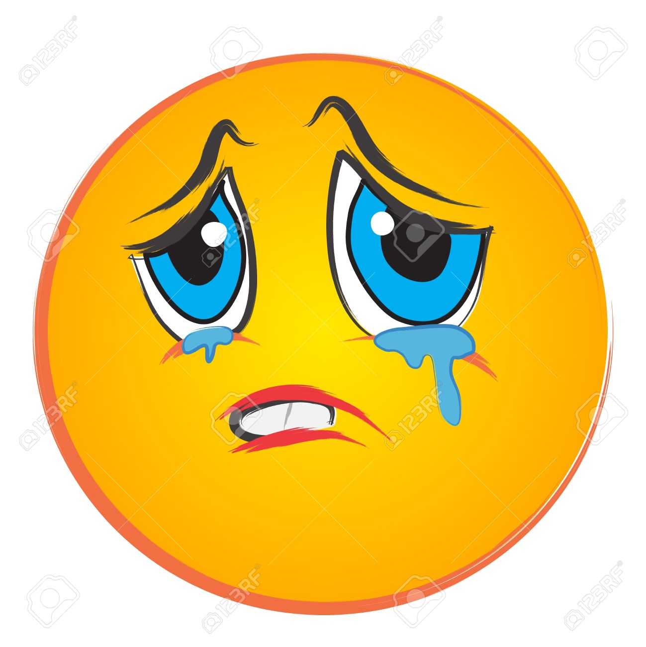 Sad Face With Tears Clipart
