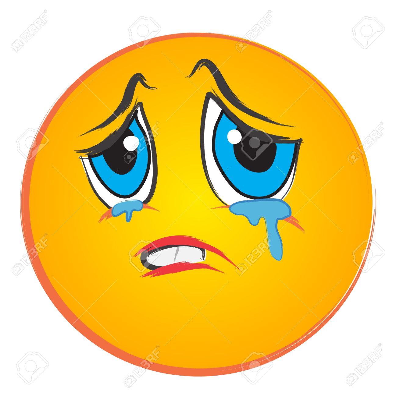 86+ Sad Face With Tears... Sad Face Images Clip Art   ClipartLook