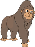 Sad Looking Gorilla Clipart
