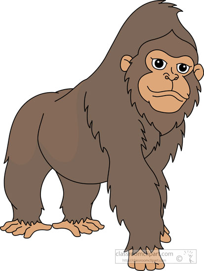 Sad Looking Gorilla Clipart S - Gorilla Clip Art