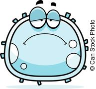 ... Sad White Blood Cell - A cartoon illustration of a white.