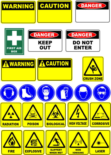 Safety Signs Clip Art At Clker Com Vector Clip Art Online Royalty