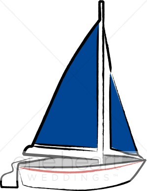 Blue Sail Sailboat Clipart