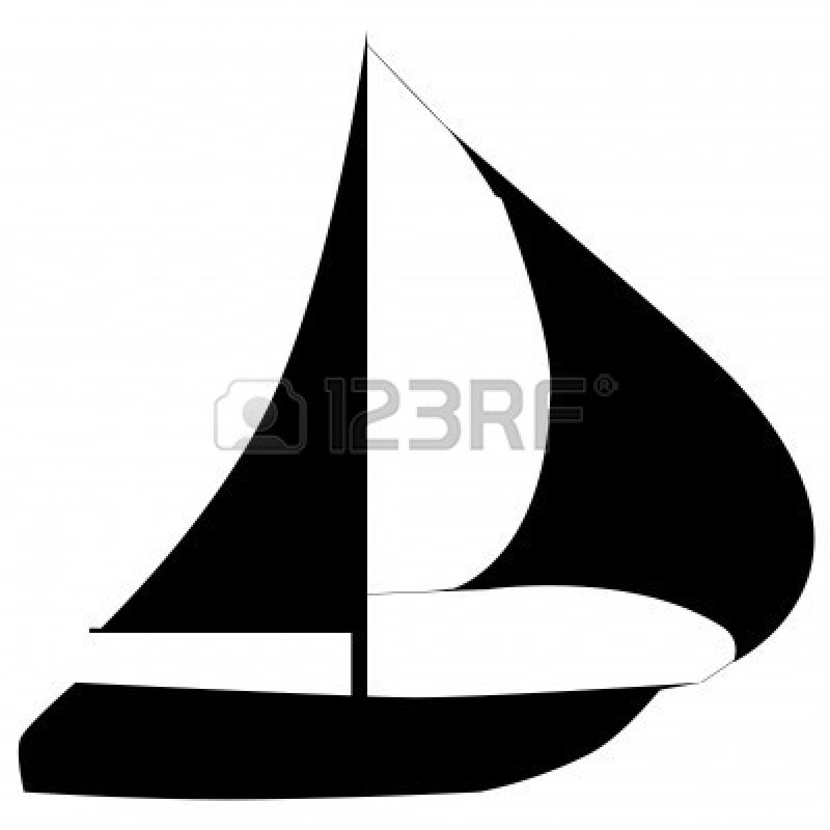 Sailboat Clipart Silhouette-sailboat clipart silhouette-2