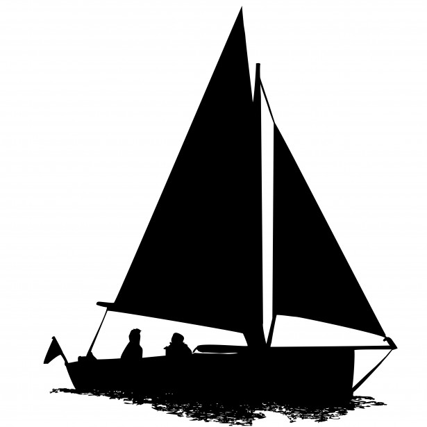 Sailboat Clipart Silhouette-sailboat clipart silhouette-5