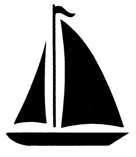 Sailboat Silhouette Clipart -