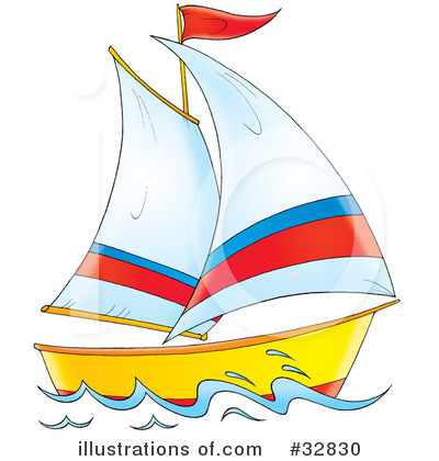 Sailboat Clipart #32830 .