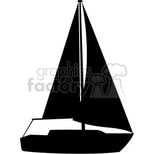 Sailboat Silhouette Open Sails-sailboat silhouette open sails-16