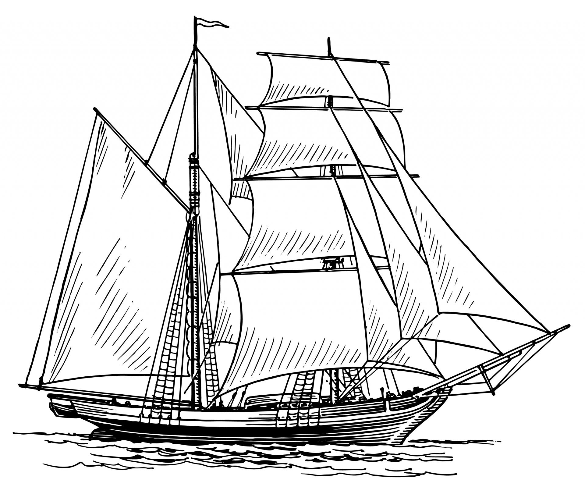 Sailing Ship Clipart Illustration