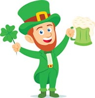 leprechaun holding mug of green drink st patricks day clipart. Size: 110 Kb