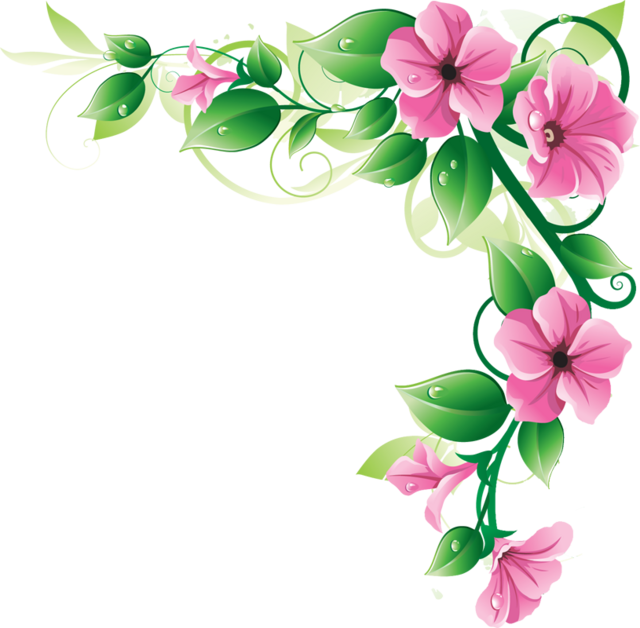Sakura Flower Clipart U0026middot; Borde-Sakura Flower Clipart u0026middot; border clipart-18