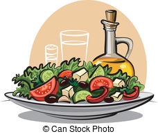 fresh vegetable salad and olive oil-fresh vegetable salad and olive oil-13