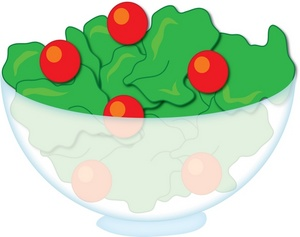 Salad Clipart Image: Bowl of Salad