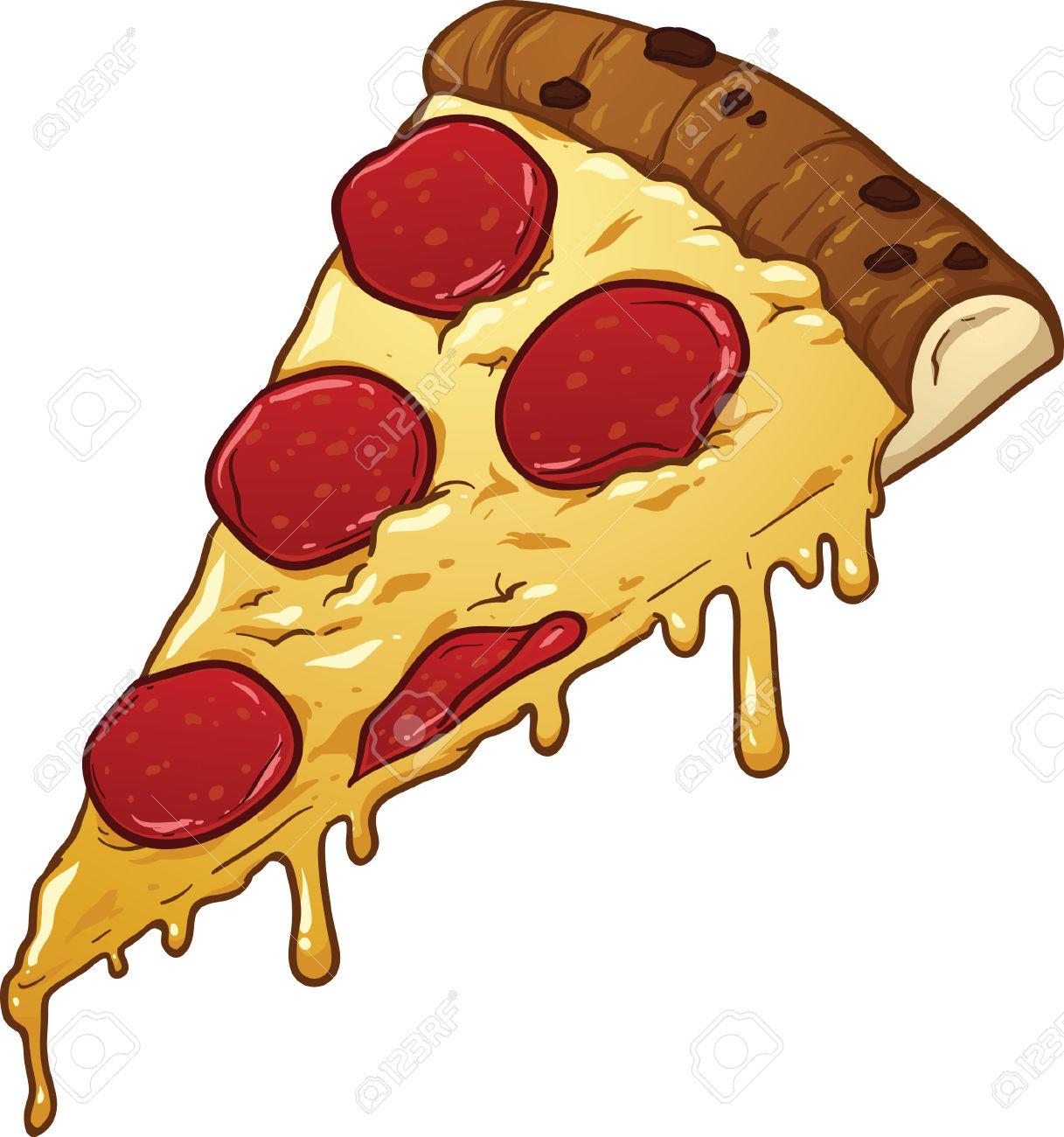 Salami Pizza Slice Clipart