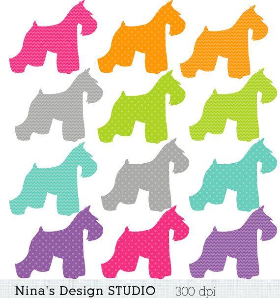 Sale/60 0ff/12 Schnauzer Dog Clipart / B-Sale/60 0ff/12 Schnauzer Dog Clipart / by Ninasdesignstudio, $2.50-10