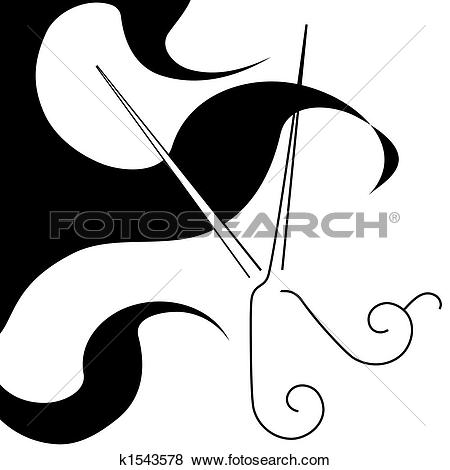 salon style hair cut scissors u0026amp; curls symbol