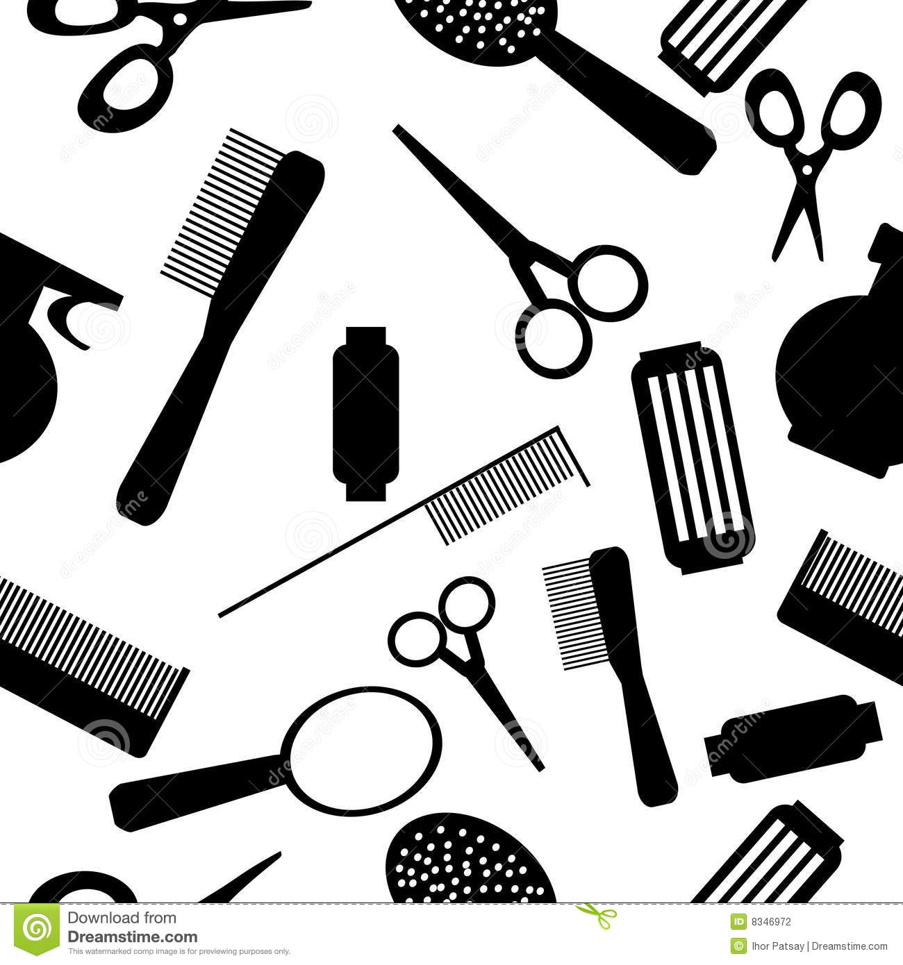 Salon Tools Clipart #1