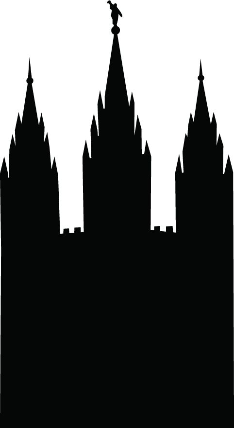 Salt Lake City Temple Silhouette Clipart